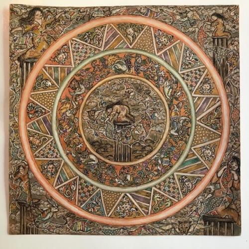 Isabella Collodi Mandala della Stilita china acquerello 40x40