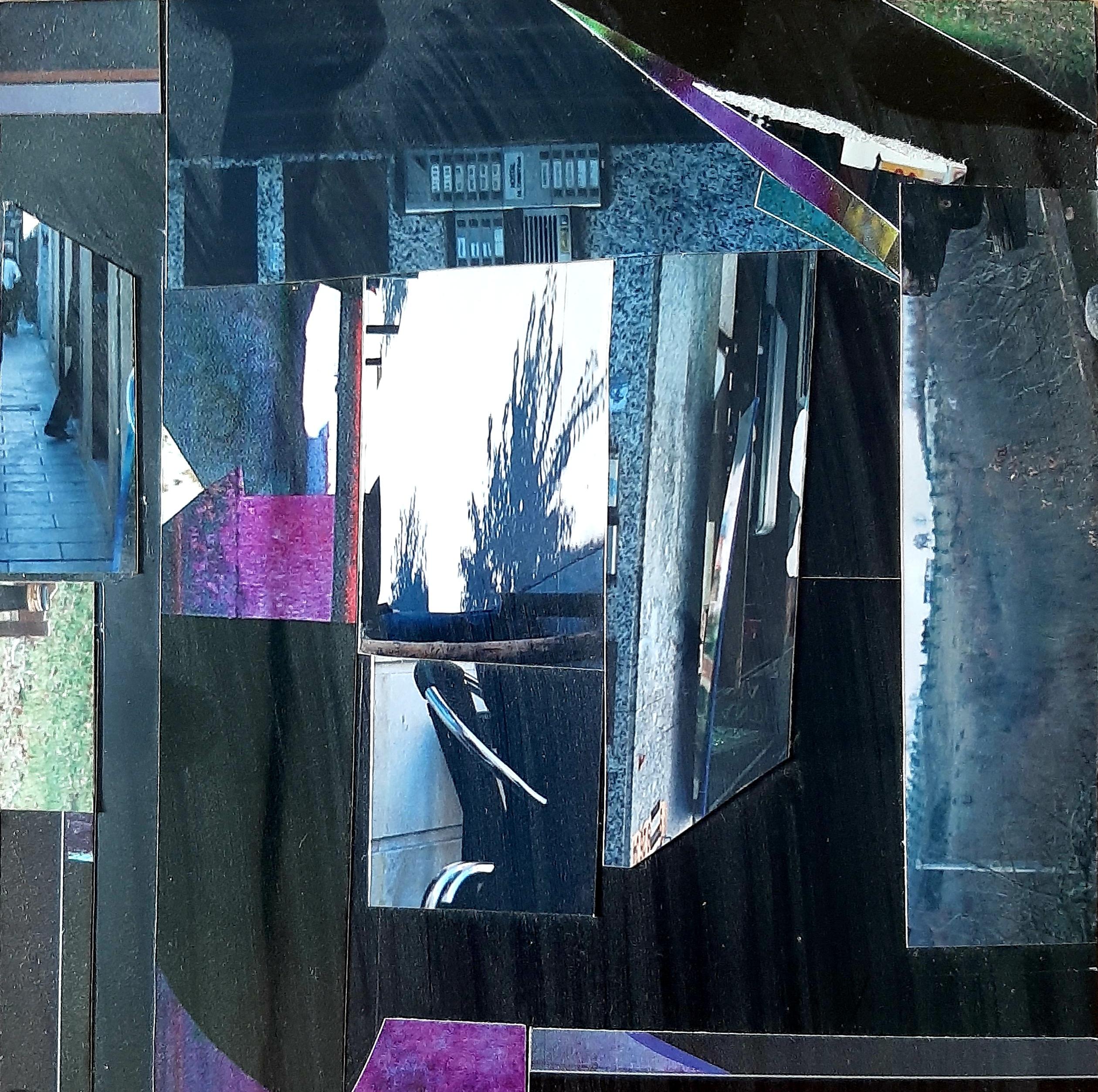 Marie Laure Colasson 17x17 cm collage 2021